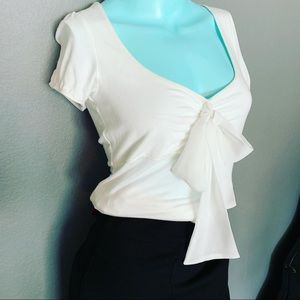The Limited NWOT White Tie Front Shirt Small
